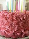 Red Velvet Rosette Cake
