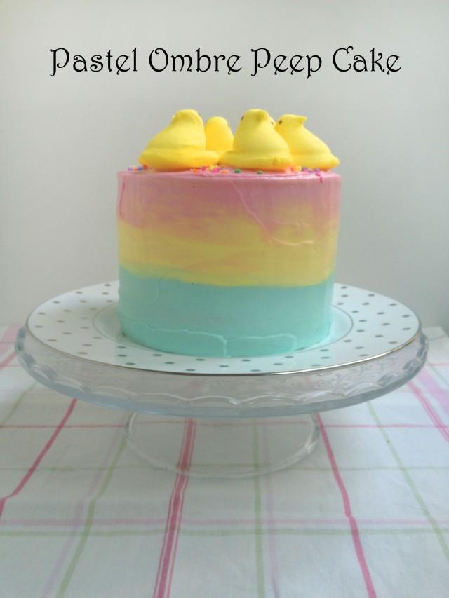 pastel ombre peep cake