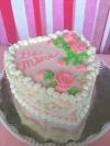 Vintage Valentine Cake