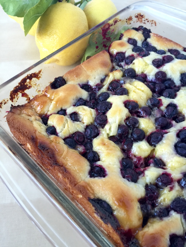 Gluten Free Lemon Blueberry Coffee Cake